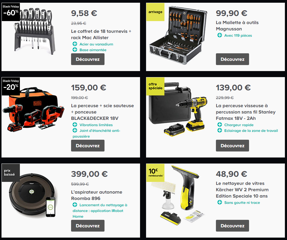 castorama black friday promotions